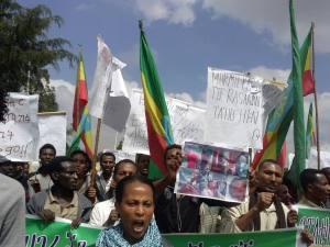 Angerly Oromo protestor @ Finfinne